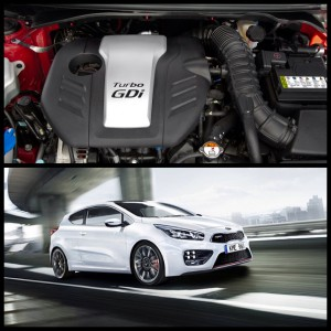 The rumoured i30SR Turbo will use 1.6l turbo used in the Hyundai Veloster and  Kia Cee'd GT (pictured)