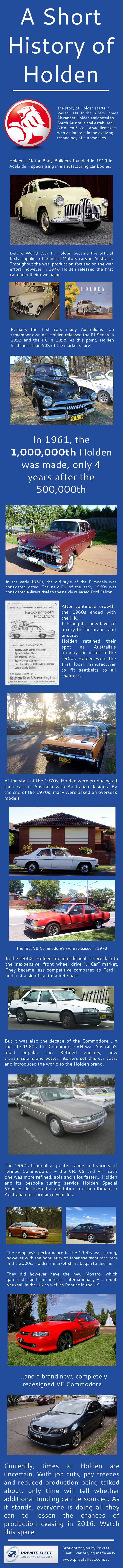The History of Holden