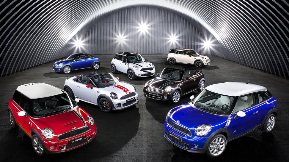 The MINI range. Notice the size… Bigger and Bigger… Uglier and Uglier...