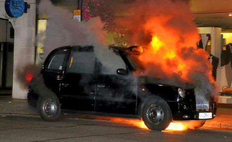 Black Taxi Fire