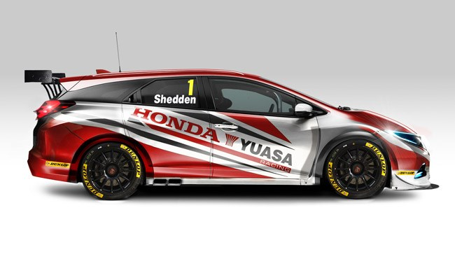 The new Honda for the 2014 BTCC Season...