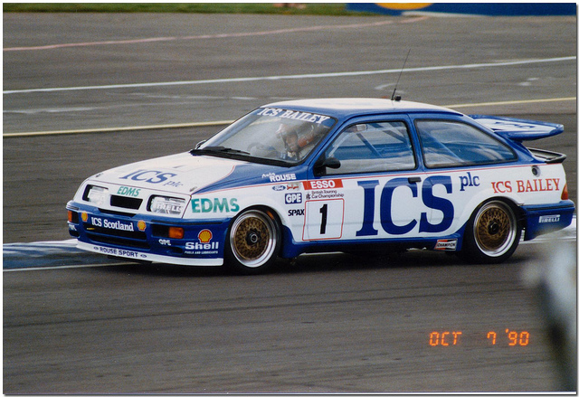 The Ford Sierra Cosworth dominated the BTCC in the 1980s, especially under the dominant control of Andy Rouse