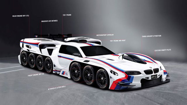 With all this talk of intelligent cars, it is only a matter of time before BMW go completely insane and create this... not that I would be sad about this