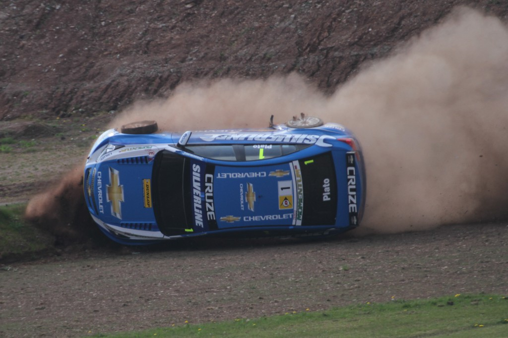 Plato's pushing so hard he's on two wheels... Photo Credit: BTCC.net