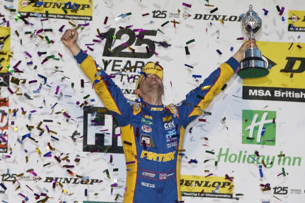 Andrew Jordan celebrates his first championship. Photo Credit: BTCC.net