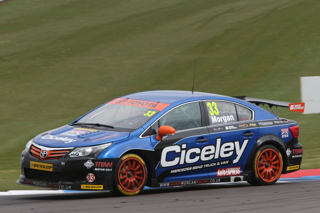 Adam Morgan is making the switch from his handsome Toyota to a Mercedes A-Class for 2014. Photo Credit: BTCC.net