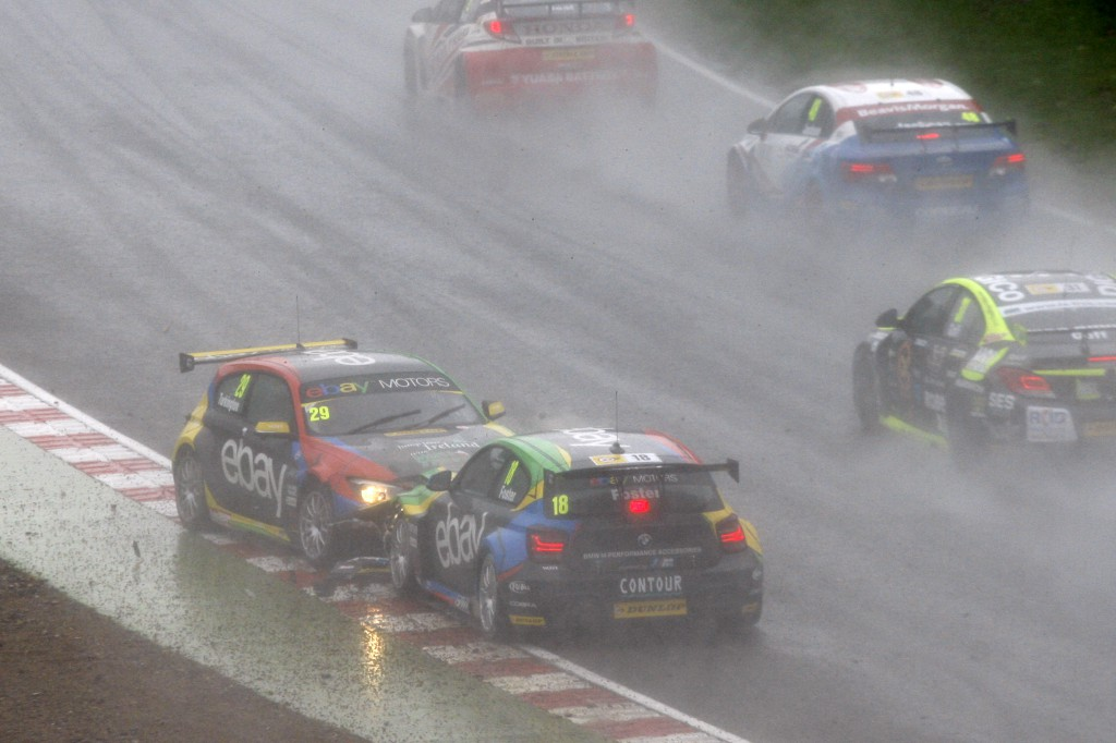 I imagine there were a few heads on desks back at race control... Photo Credit: BTCC.net