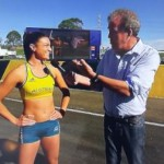 Michelle Jenneke and some bloke called Jeremy.