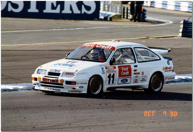 Robb Gravett in his 1990 Ford Sierra