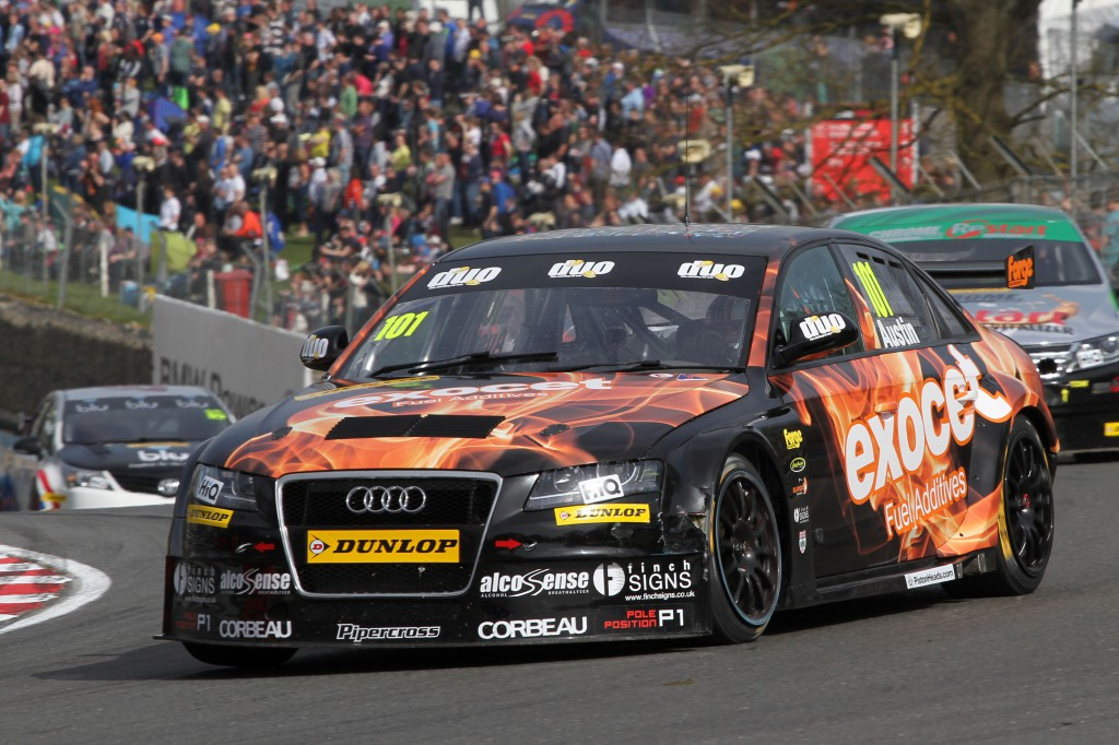 Rob Austin and the amazing Sherman (his new Exocet Audi) were stunning at Brands. Image Credit: BTCC.net