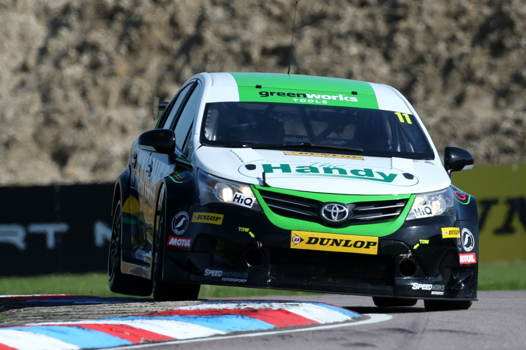 Simon Belcher was lucky to walk away from his gut-wrenching roll. Image Credit: BTCC.net