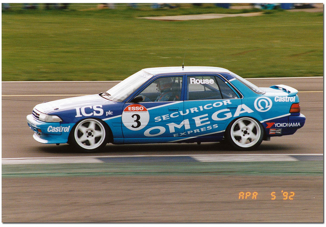 Rouse in his 1992 Toyota, give me this back any day... Image Credit: BTCC.net
