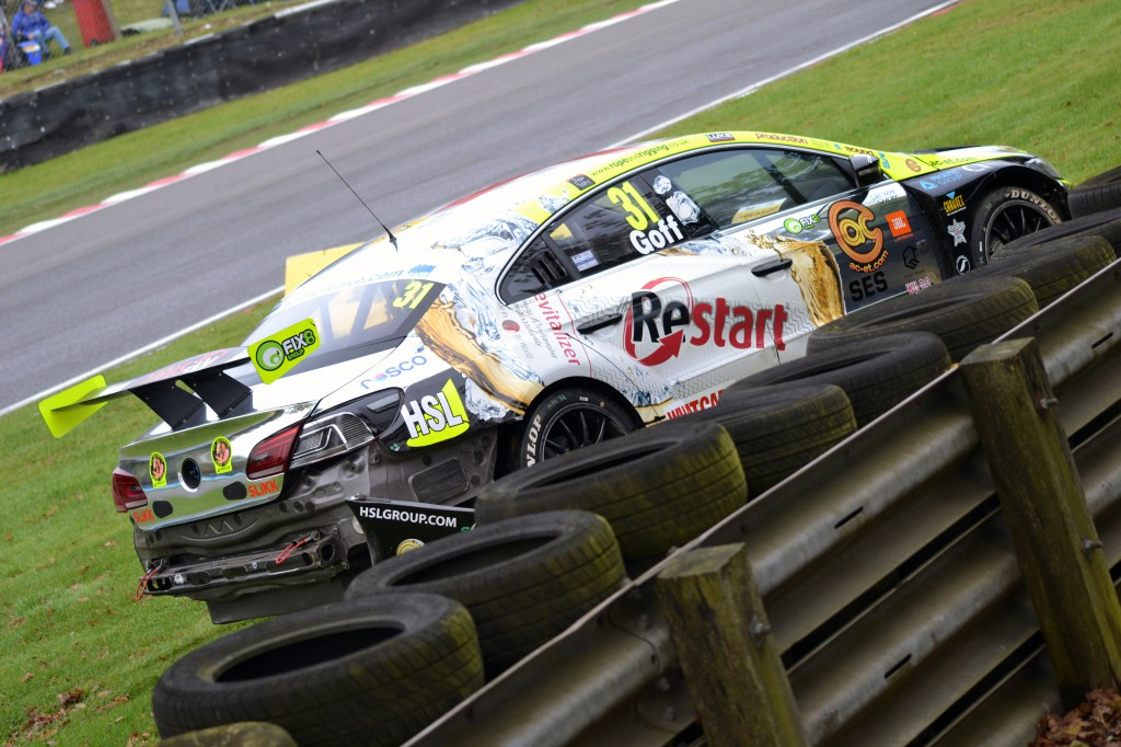 Jack Goff was one of the early casualties of race one. Image Credit: Adam Johnson (Team Bombersports)