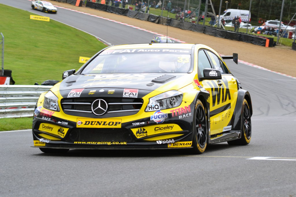Adam Morgan made history by recording the first ever BTCC win for a Mercedes. Image Credit: Adam Johnson (Team Bombersports)