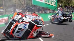 Lowndes Luff crash