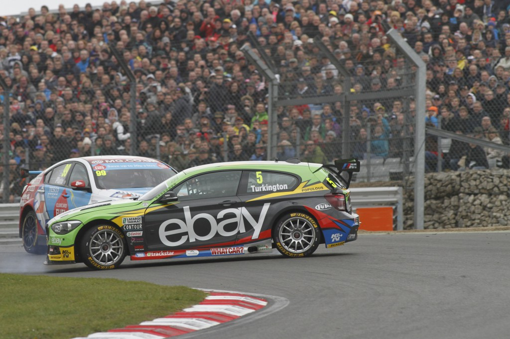 'I grow tired of your success Turkington, out of my way'. Image Credit: BTCC.net