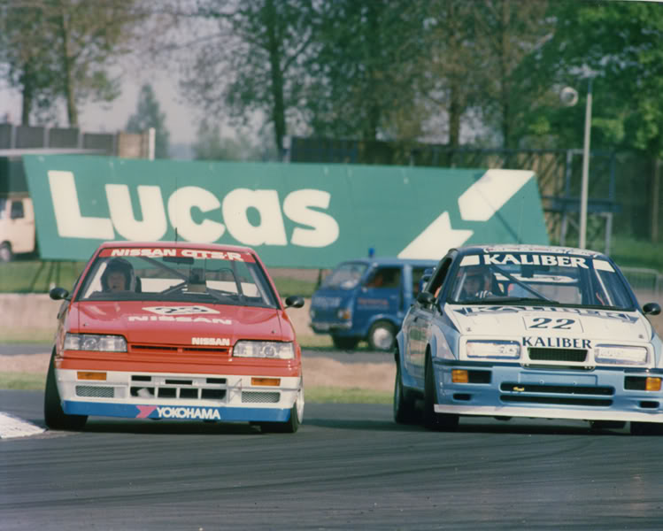 Win Percy and Andy Rouse battle it out at the 1988 Endurance Event at Donington Park. Image Credit: performanceforums.com