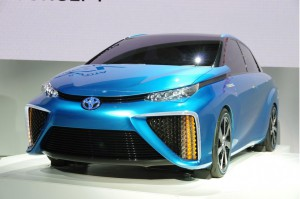 The Toyota FCV concept at the 2013 Tokyo motor show: a fuel cell vehicle that we could see on the roads some day.
