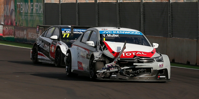Muller suffers with these new shatter-able body kits in WTCC. Image Credit: TouringCars.net
