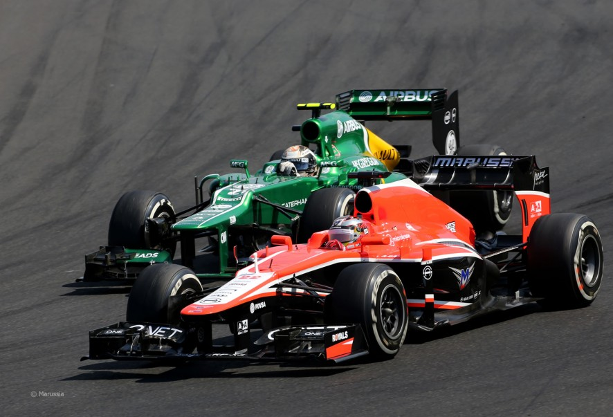 Caterham and Marussia have been fighting it out throughout 2014 at the back of the grid. Image Credit: f1fanatic.co.uk