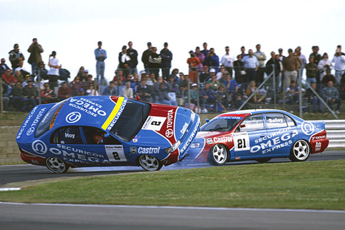 The car on its roof, is a Toyota! Memorable moments come thick and fast in BTCC. Image Credit: SpeedHunters,com