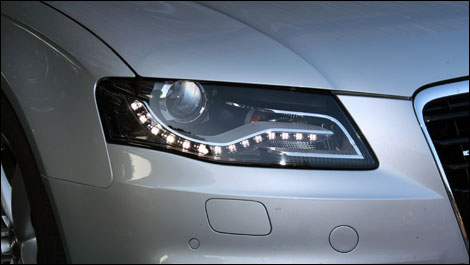 A nice example of daytime running light design from Audi.