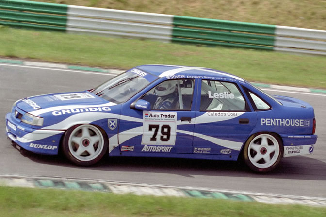 David Leslie in his 1993 Ecurie Ecosse Vauxhall. Image Credit: Speedhunters.com