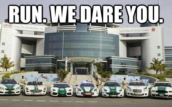 Career in the Dubai police force? I bet you want to learn about cars now..