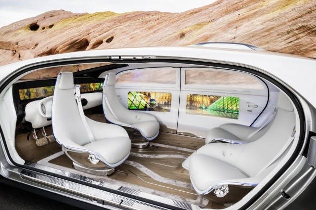 The Digital Activity Space inside the F015 will revolutionise travel. Image Credit: motorauthority.com