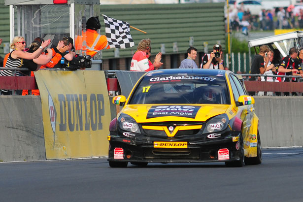 The final win for a Vauxhall in the BTCC came from Dave Newsham. Image Credit: MJP Media