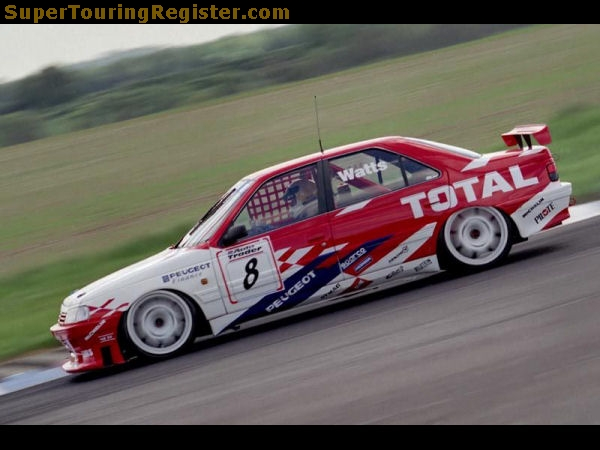 Apart from his stand out '94 season, Patrick struggled with the Peugeot team. Image Credit: supertouringregister.com