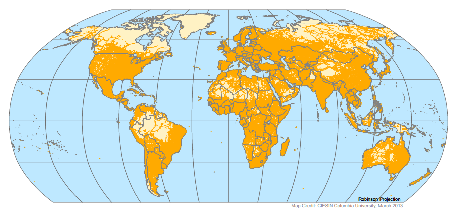 The Global Road Network. Image and Data Credit: