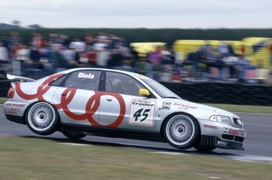 The all-conquering 4WD Audi of Frank Biela in '96. Image Credit: Autocar
