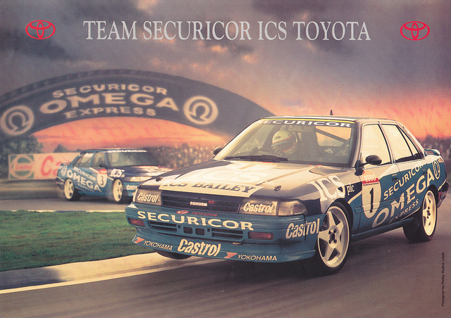 The original promotional poster used for the '92 Toyota team