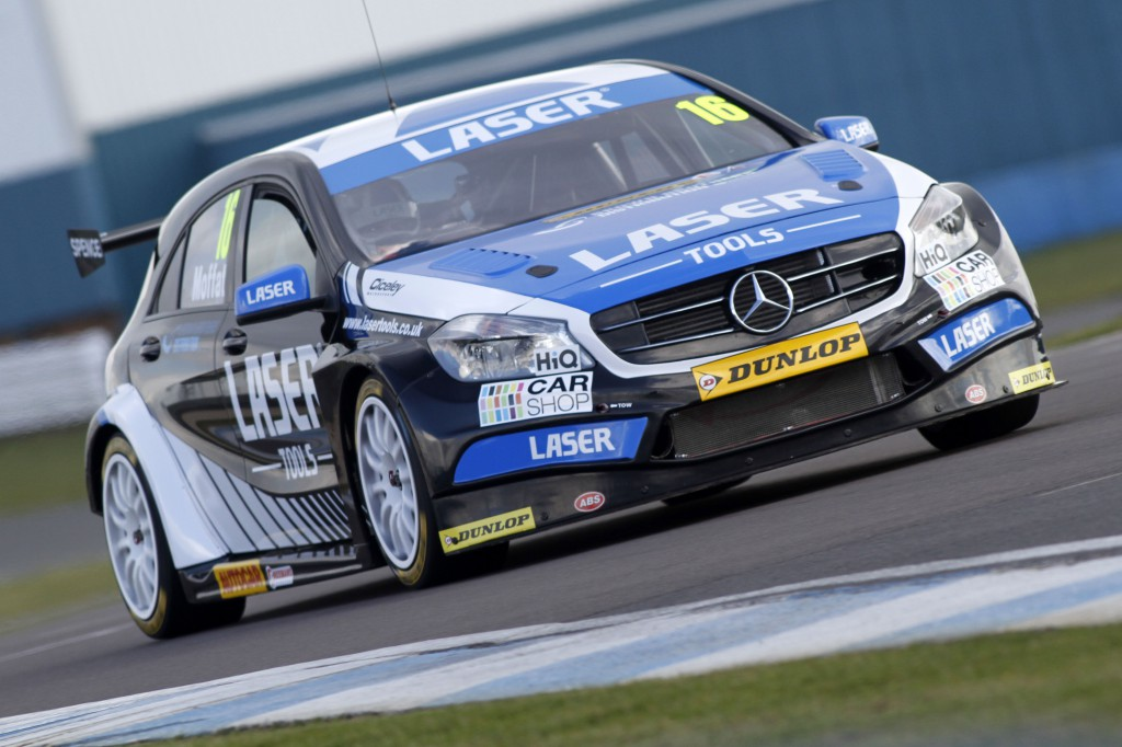 The Moffatt Mercedes surprised everyone with its outright pace. Image Credit: BTCC.net