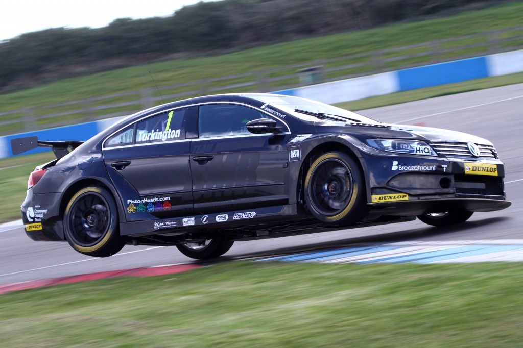 The myserious jet black BMR VW kept everyone guessing. Image Credit: BTCC.net