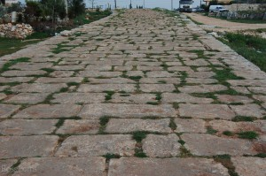 Roman road still in use in Jebel, Syria.