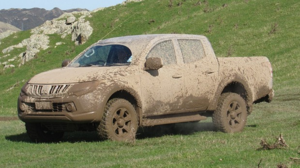 This is apparently a Mitsubishi Triton, but don't ask what colour it is.