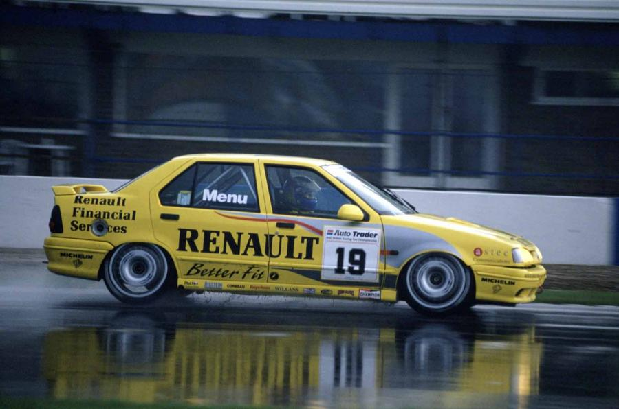 It may have been lacking in performance, but the '93 Renault dominated in the rain. Photo taken from: Autocar.co.uk