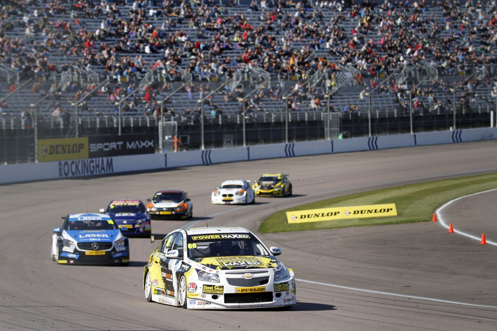 Cooking with Gas: Josh was on fire at Rockingham thriller. Photo Credit: BTCC.net