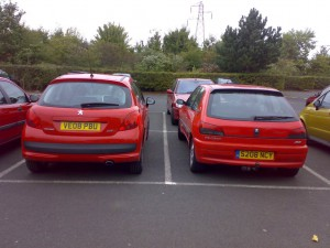 Peugeots Side-by-Side