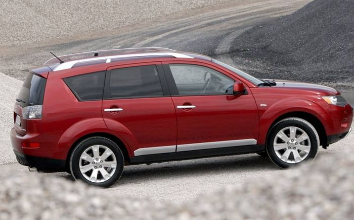There is ample room inside the well appointed Mitsubishi Outlander interior,