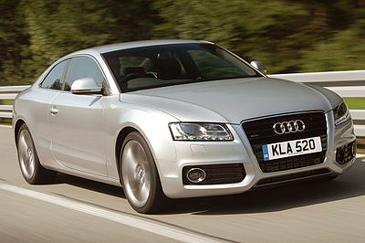 The exterior of the Audi A5 2.0 TFSI Quattro is smooth and uncluttered.