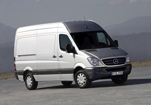 The Mercedes-Benz Sprinter is a tall delivery van, pickup truck and minibus