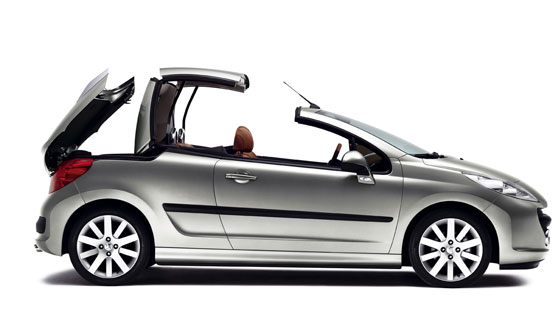 When the sun's out, you can drop the roof on the Peugeot 207CC and come out to play.