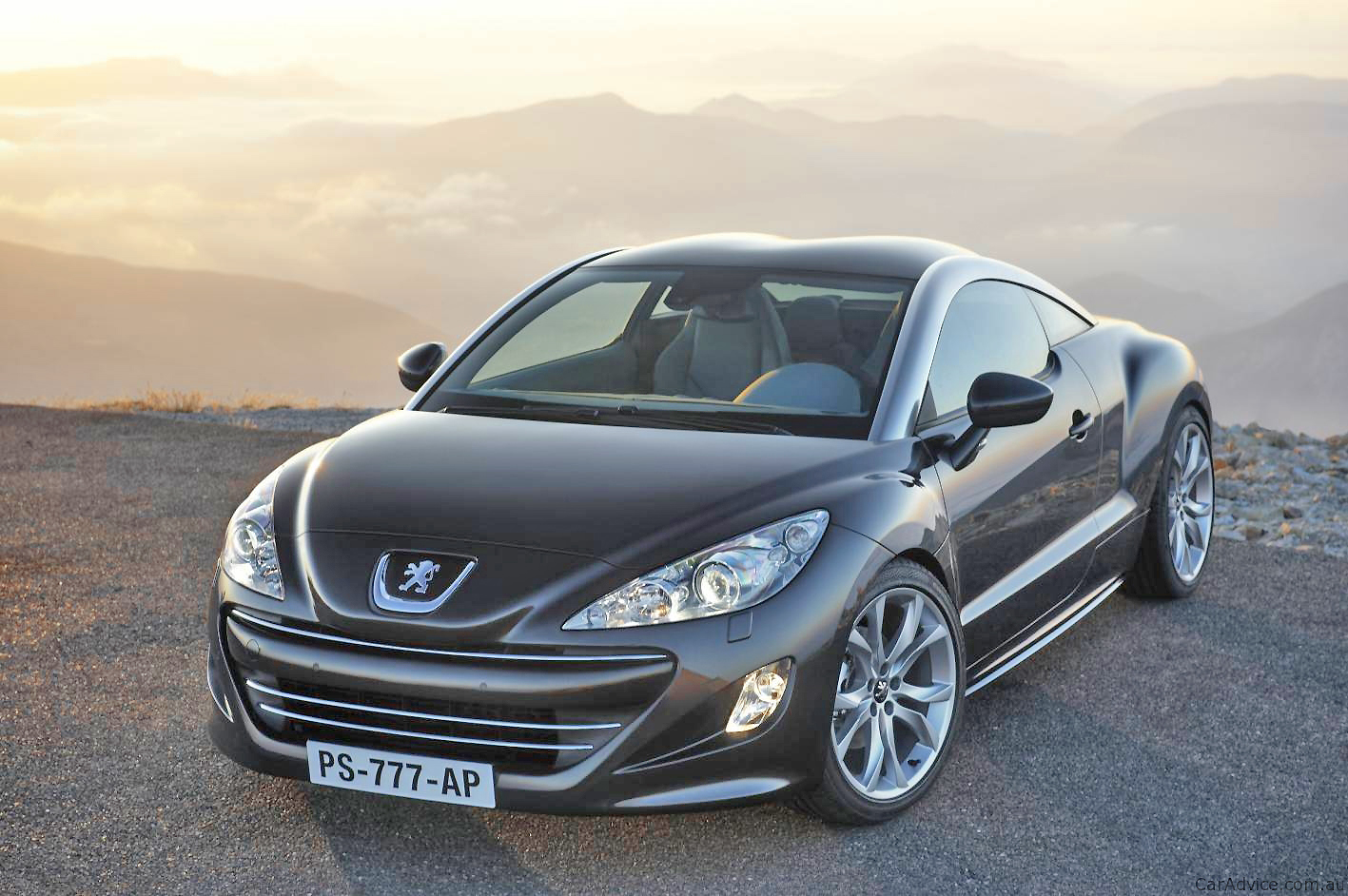 The distinctive double-bubble roof of the Peugeot RCZ is one of the features that won it the title of Most Beautiful Car of 2009.