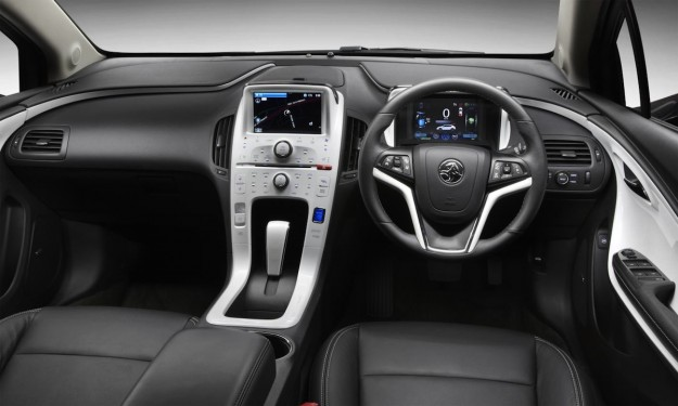Compact and comfortable, the quiet Holden Volt interior is a pleasure. In keeping with the car's clever electric technology, the car has plenty of modern appeal.