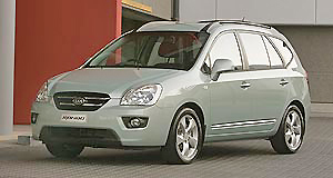 A nicely proportioned Kia Rondo 7 offers superior people carrying duties.