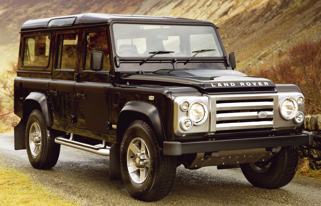 The Land Rover Defender looks tough and it is tough: the toughest 4x4 you can get.