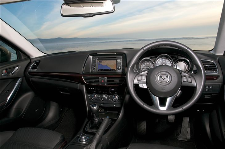 Sitting inside the Mazda6 Sedan gives you a satisfied, warm buzz. Classy materials and first-rate features are on offer.
